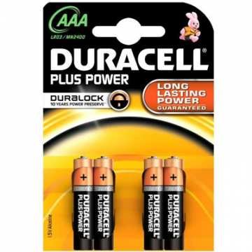 BATTERIE DURACELL PLUS POWER AAA LR03 / MN2400 CF DA 4 PZ